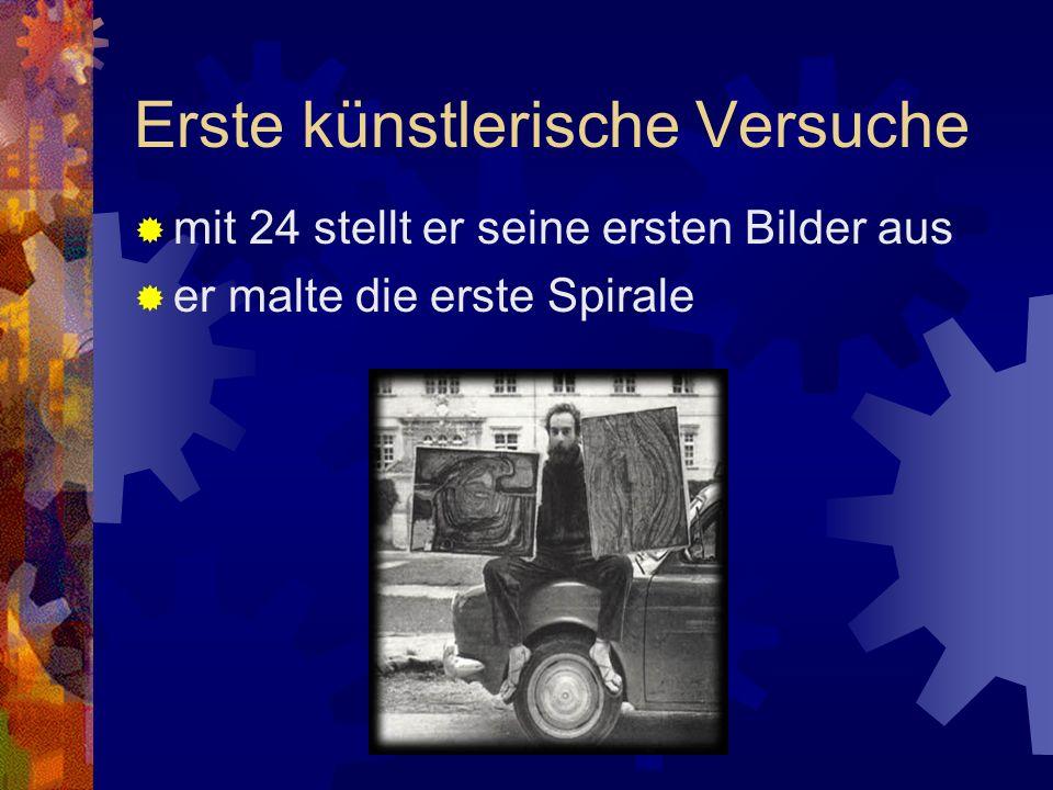 Jugend 1928 als Fritz Stowasser in Wien/ Österreich geboren 1948 Studium an der Akademie der Bildenden Künste - Abbruch