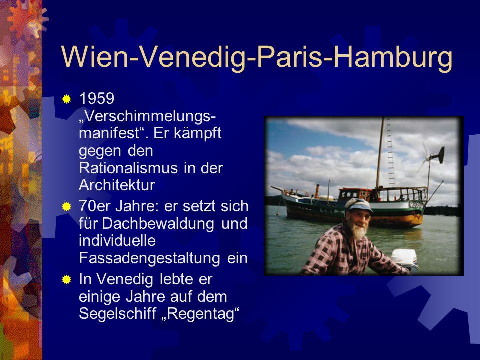 Wien-Venedig-Paris-Hamburg außerordentlicher Professor an der Hamburger Hochschule für Bildende Künste