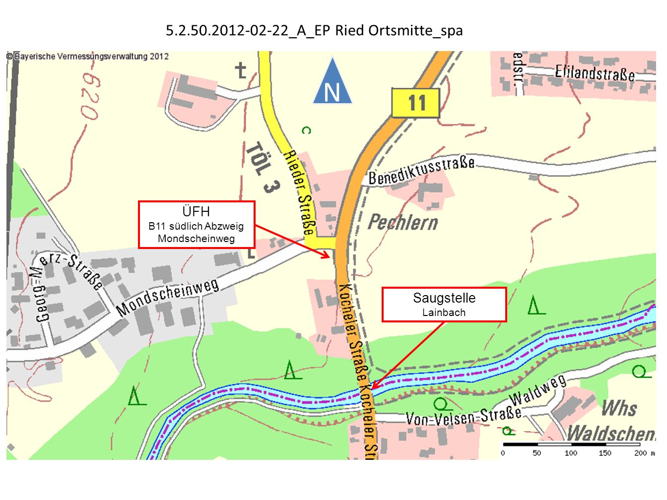 ÜFH B11 südlich Abzweig Mondscheinweg Saugstelle Lainbach N 5.2.50.2012-02-22_A_EP Ried Ortsmitte_spa