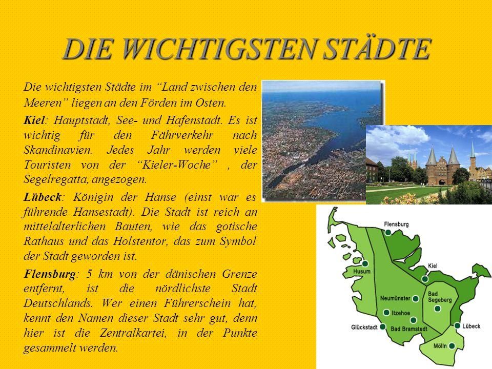 DIE HEIMAT DER SCHRIFTSTELLER In Schleswig-Holstein wurden wichtige Autoren geboren.