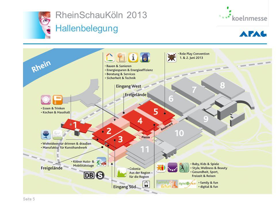 Seite 5 RheinSchauKöln 2013 Hallenbelegung