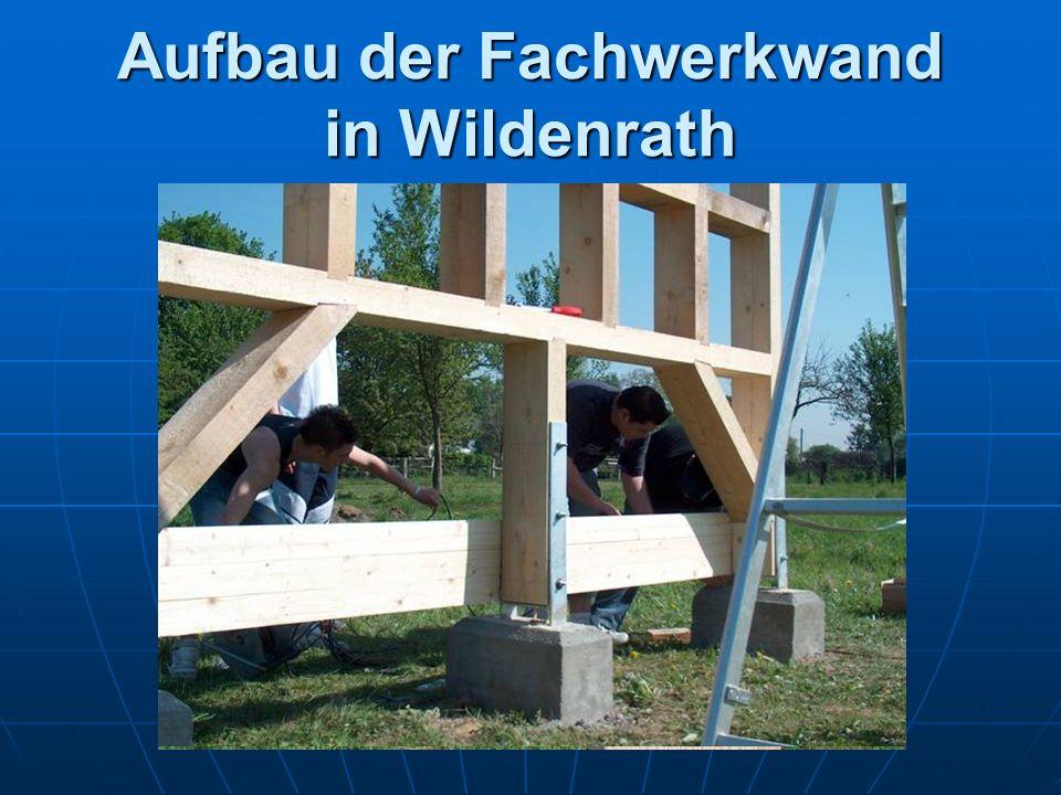Aufbau der Fachwerkwand in Wildenrath