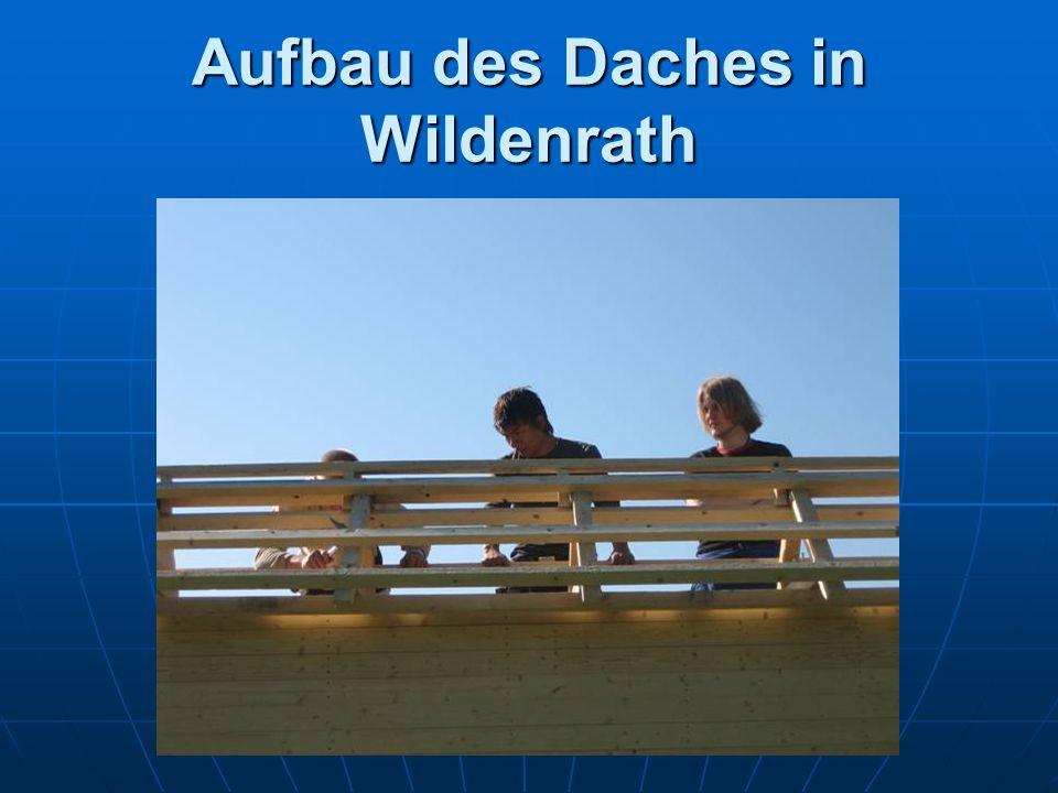 Aufbau des Daches in Wildenrath