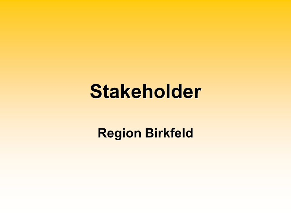 Stakeholder Region Birkfeld