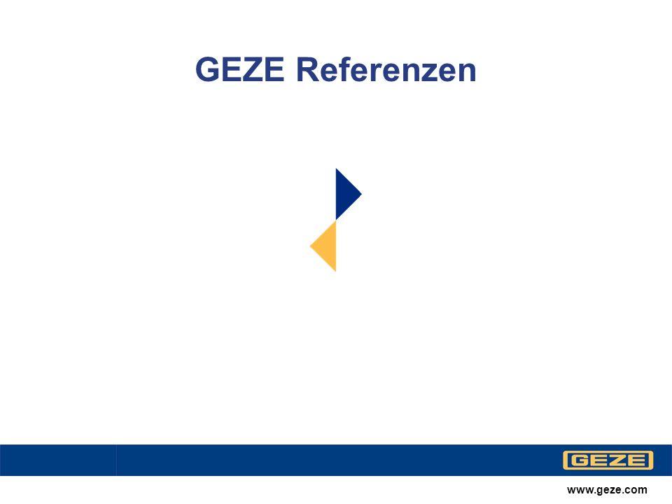 www.geze.com Produktbereiche Barrierefreies Bauen VerkehrstechnikLadenbau Glassysteme Sicherheitssysteme RWA und Lüftungstechnik Türtechnik Automatische Türsysteme