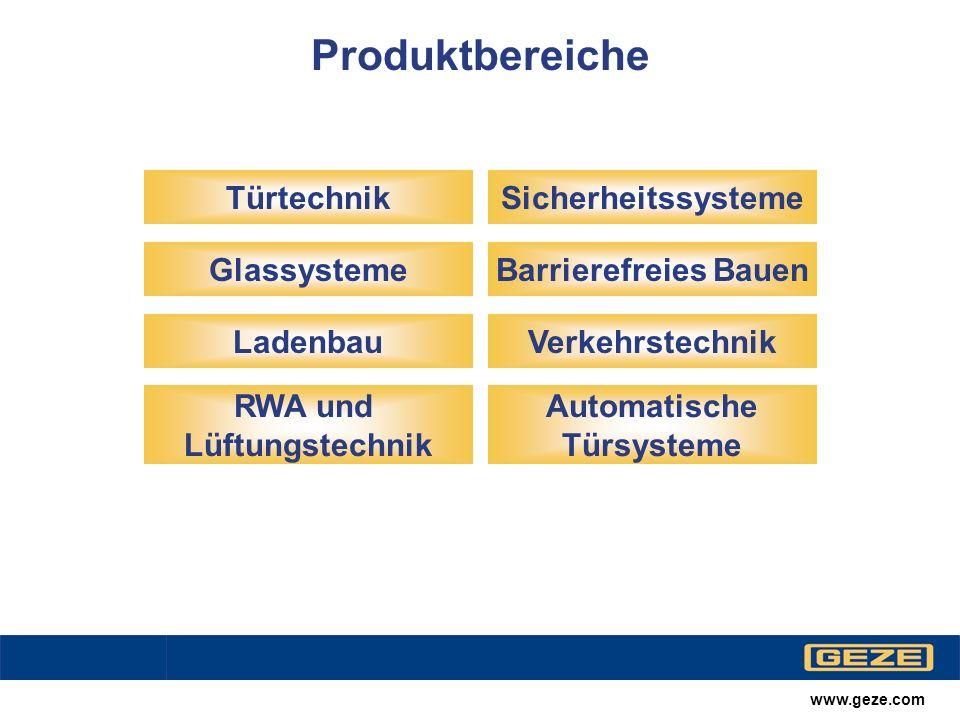 www.geze.com Automatische Türsysteme Slimdrive SL-FR Windfanganlage, IKK-Verwaltungsgebäude, Herford; Architekturbüro/Design: Wittekind-Haus, Herford; Streich SAI, Bielefeld Übersicht