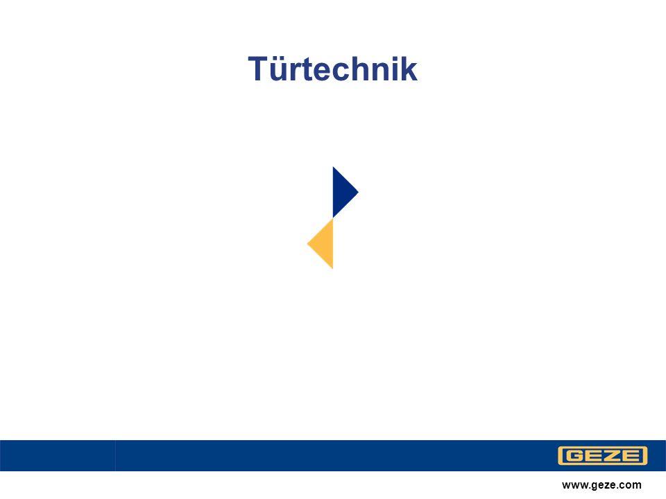 www.geze.com Türtechnik Übersicht TS 5000TS 5000 IS TS 4000TS 550TS 5000 R