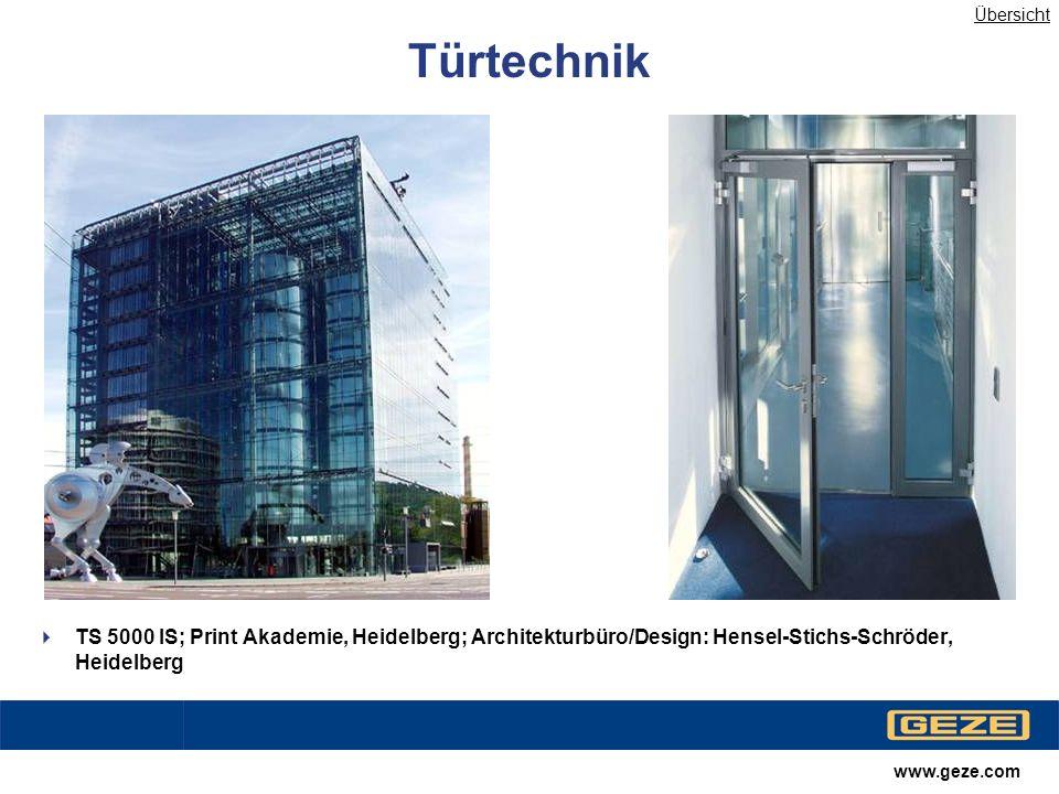 www.geze.com Automatische Türsysteme Slimdrive SL; Landgericht, Braunschweig Übersicht