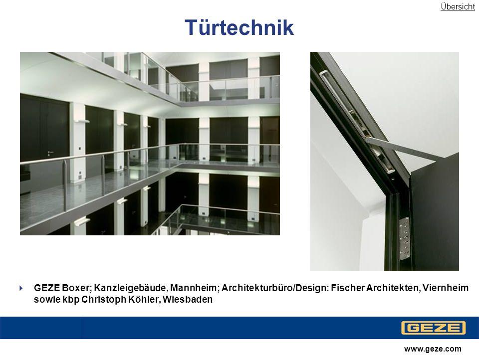 www.geze.com Ladenbau Slimdrive SL; 5 Höfe München; Architekturbüro/Design: Herzog & de Meuron, Basel Übersicht
