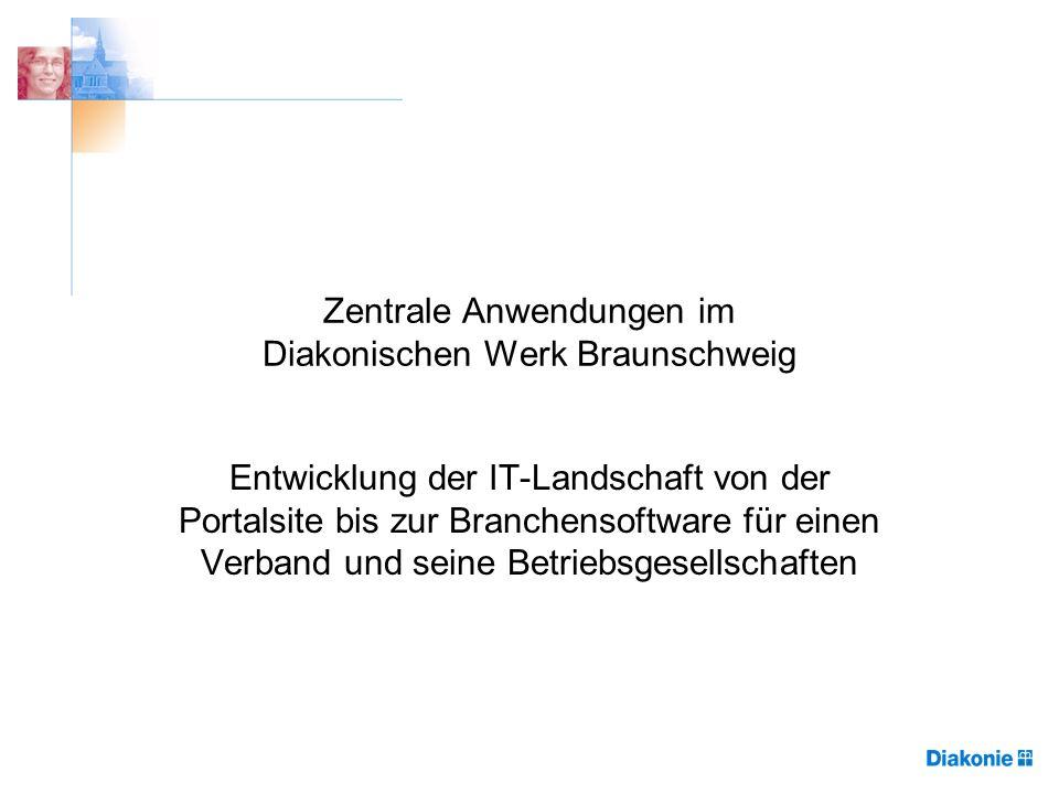 Zentrale Anwendungen im Diakonischen Werk Braunschweig Entwicklung der IT-Landschaft von der Portalsite bis zur Branchensoftware für einen Verband und