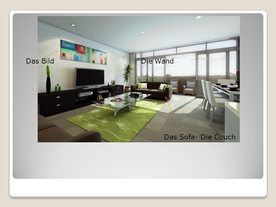 Das Sofa- Die Couch Das BildDie Wand