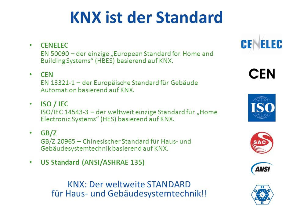 Product certification guarantees Interoperability & Interworking KNX can be used for all applications in home and building control 10.