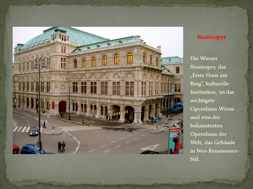 Das Burgtheater ist als österreichisches Nationaltheater, die wichtigste Schauspielbühne des Landes und das größte Sperchtheater Europas, das Traditio