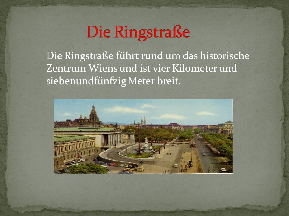 Wien ist eine der schönsten Städte Europas, ist sowohl Hauptstadt als auch Bundesland der Republik Ősterreich. Wien hat als europäische Kulturmetropol
