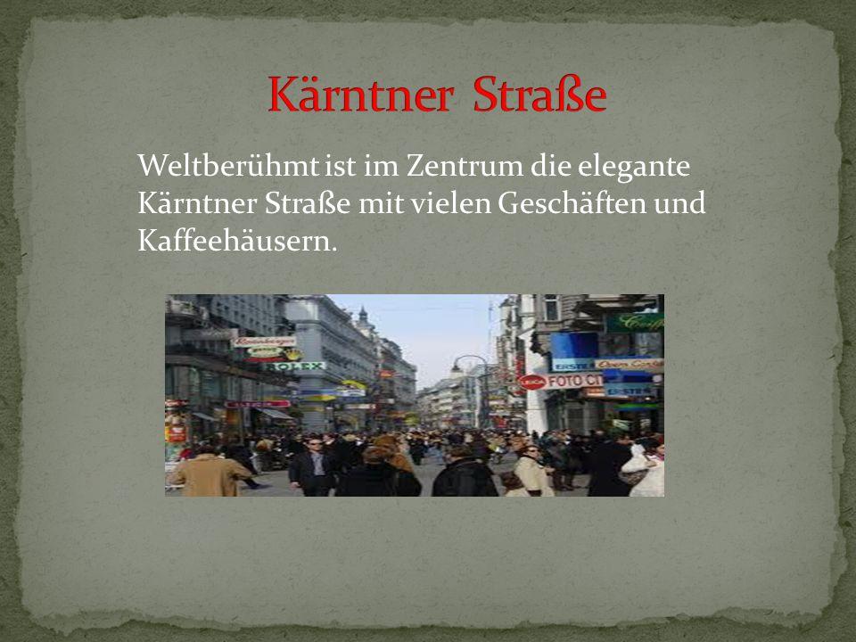 Die Ringstraße führt rund um das historische Zentrum Wiens und ist vier Kilometer und siebenundfünfzig Meter breit.