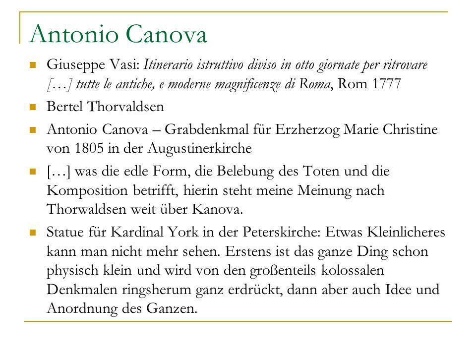 Antonio Canova Giuseppe Vasi: Itinerario istruttivo diviso in otto giornate per ritrovare […] tutte le antiche, e moderne magnificenze di Roma, Rom 17