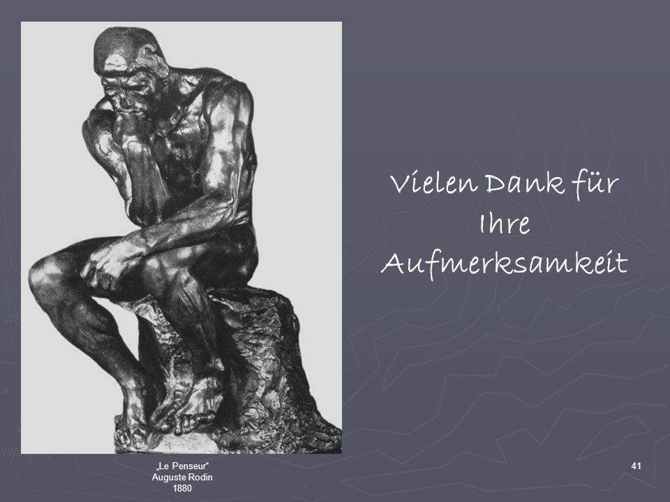 Le Penseur Auguste Rodin 1880 41 Vielen Dank für Ihre Aufmerksamkeit