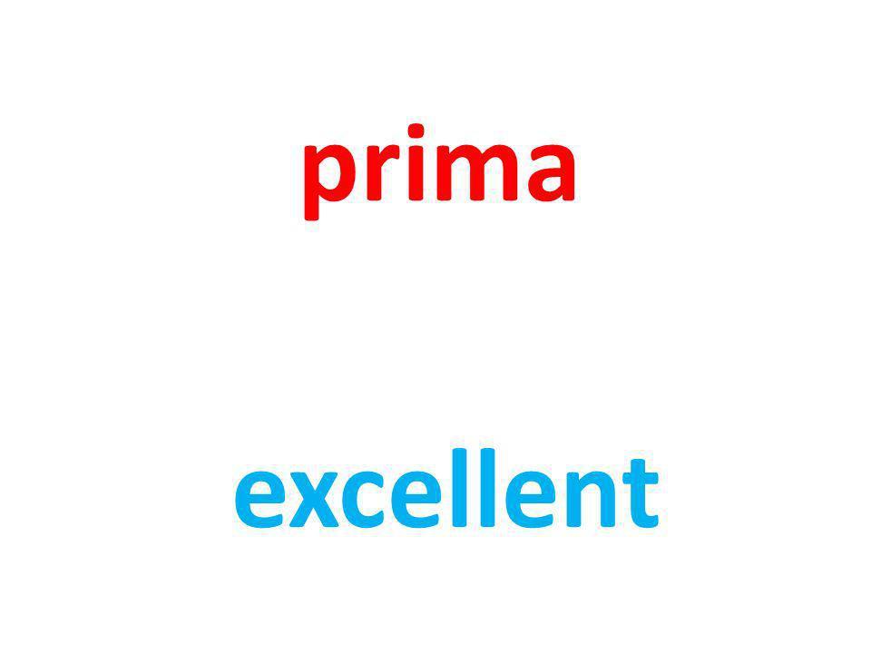 prima excellent