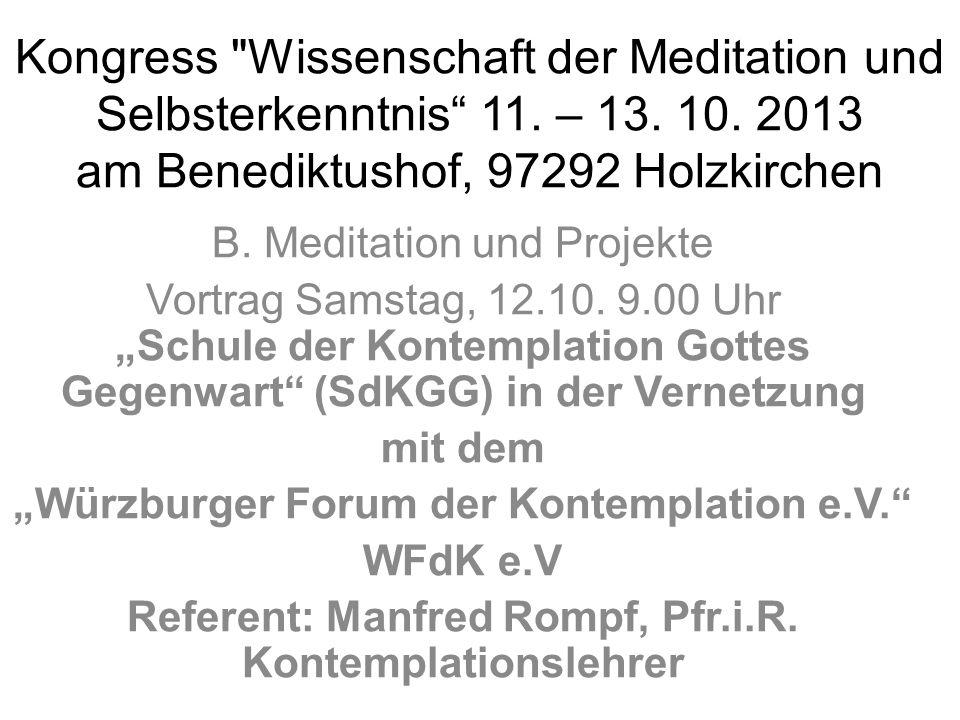 Kongress Wissenschaft der Meditation und Selbsterkenntnis 11.