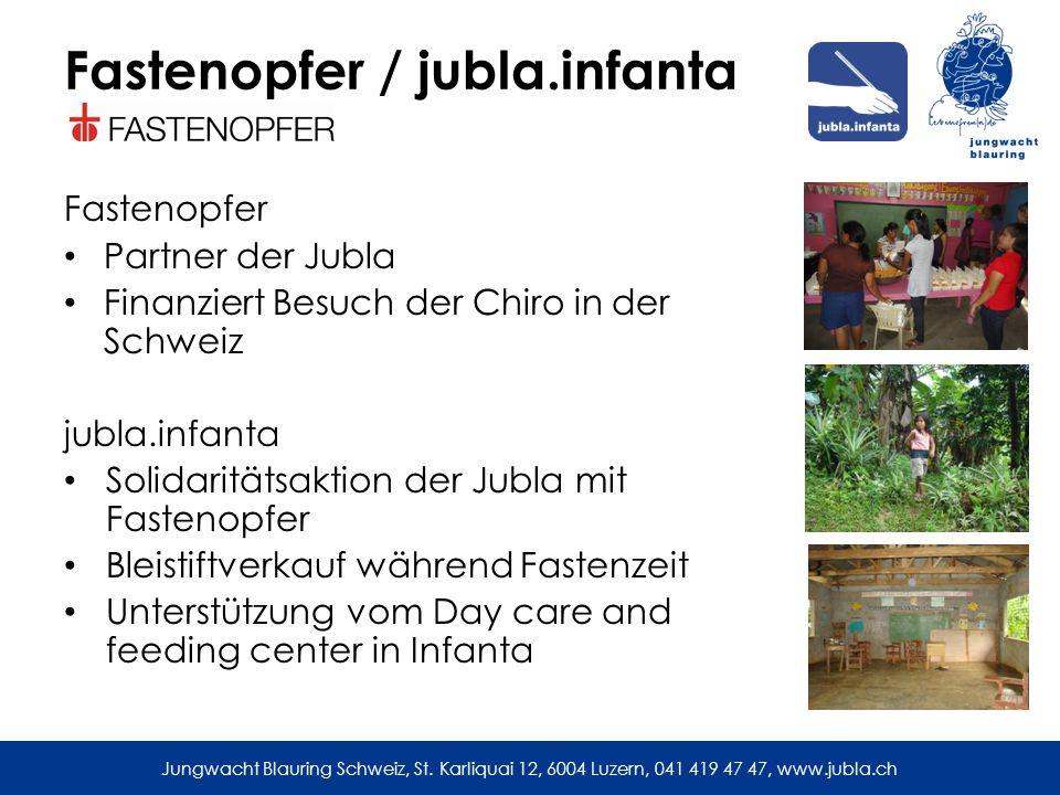 Jungwacht Blauring Schweiz, St. Karliquai 12, 6004 Luzern, 041 419 47 47, www.jubla.ch Besuch 2012
