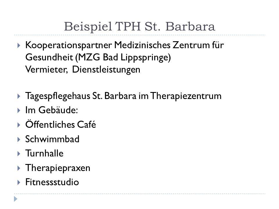 Beispiel TPH St. Barbara Kooperationspartner Medizinisches Zentrum für Gesundheit (MZG Bad Lippspringe) Vermieter, Dienstleistungen Tagespflegehaus St