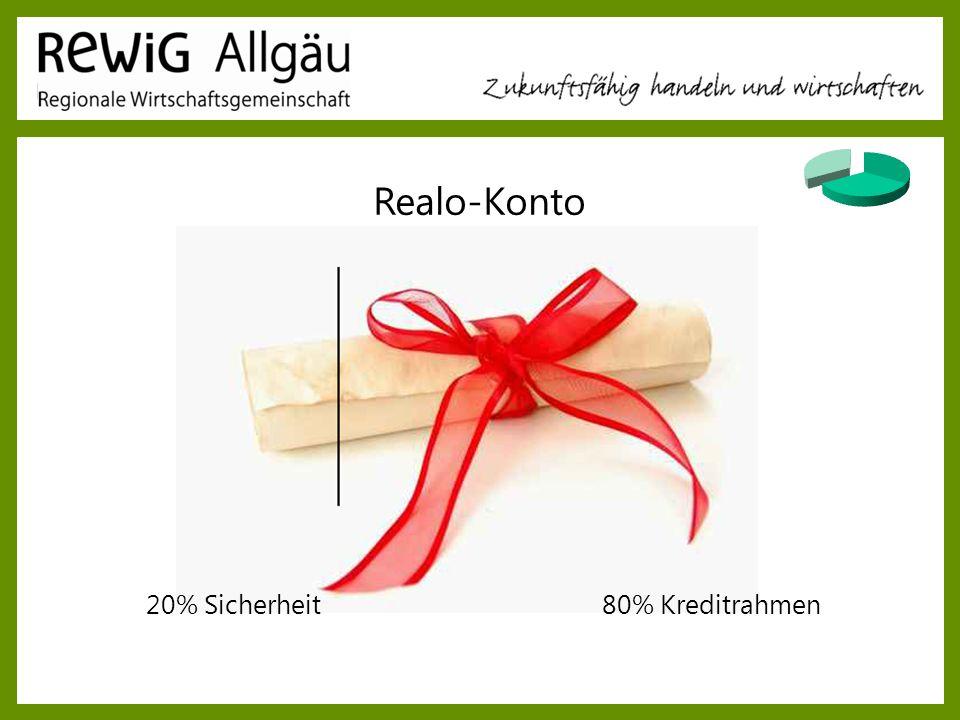 20% Sicherheit80% Kreditrahmen Realo-Konto