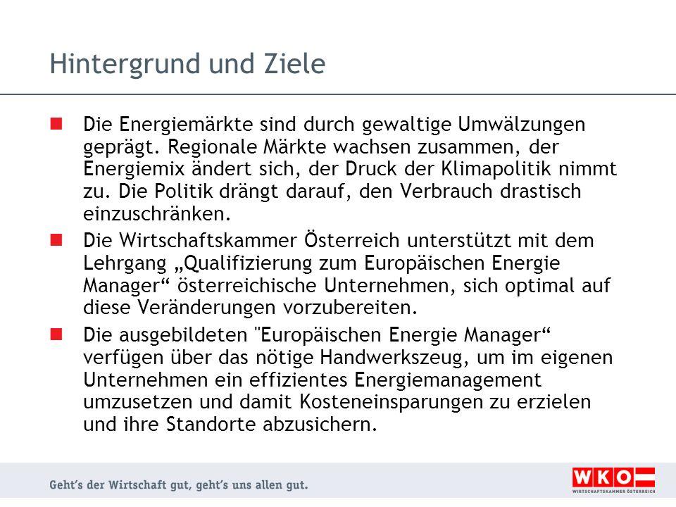 Weitere Informationen Nächster Lehrgang: EUREM XIII Aufgrund der großen Nachfrage wird von der WKÖ EUREM XIII angeboten, der im September 2012 beginnen wird.