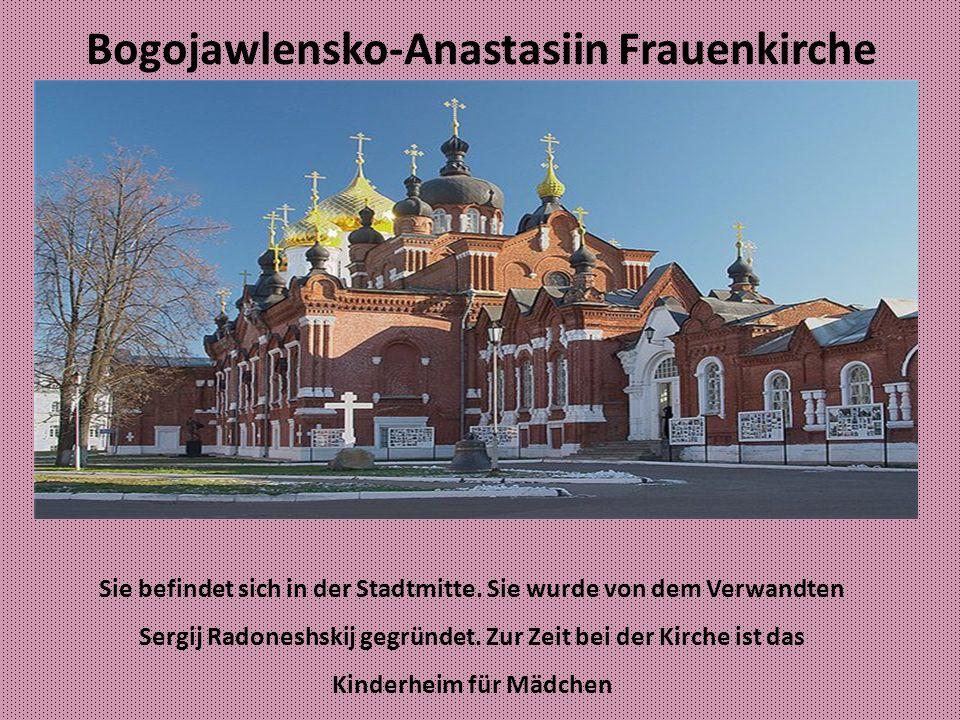 Susdal Die Geschichte der Stadt begann mit dem Bauen des Kremls auf dem Fluss Kominka.