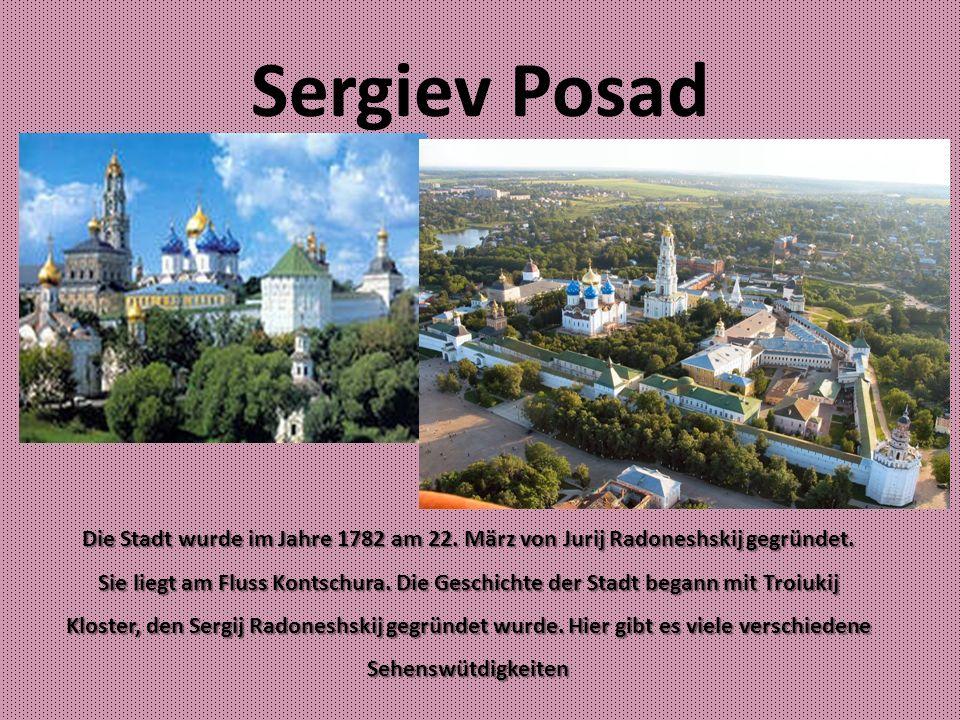 Die Kirche von Peter und Pavel Die Kirche wurde im Jahre 1654 gegründet.