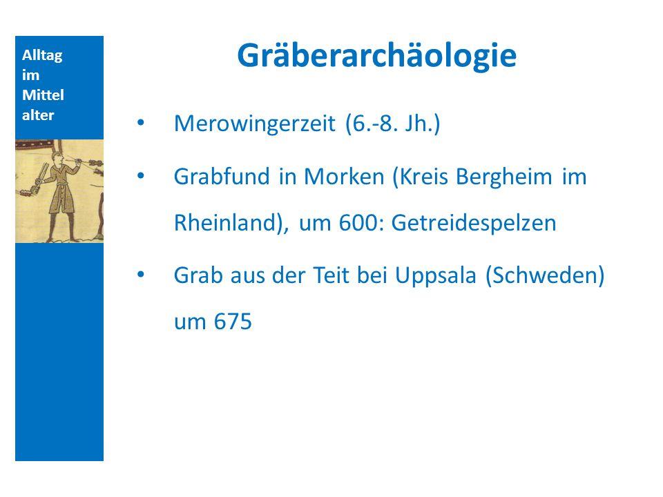 Alltag im Mittel alter Gräberarchäologie Merowingerzeit (6.-8.
