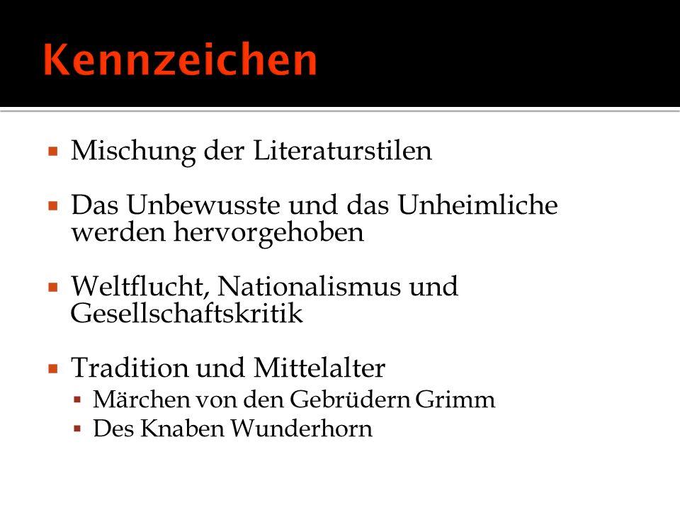 Bettina von Arnim, Achim von Arnim, Brüder Grimm, Heinrich Heine, Heinrich von Kleiste, Friedrich Schlegel, Clemens Brentatno, Ernst August, Joseph Görres