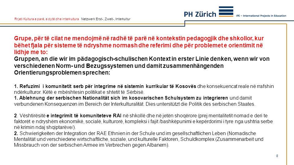 Rrjeti Kultura e parë, e dytë dhe interkultura Netzwerk Erst-, Zweit-, Interkultur Grupe, për të cilat ne mendojmë në radhë të parë në kontekstin peda