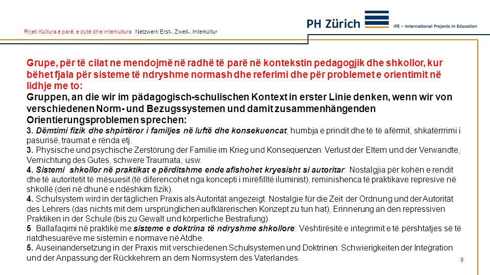 Rrjeti Kultura e parë, e dytë dhe interkultura Netzwerk Erst-, Zweit-, Interkultur 6.