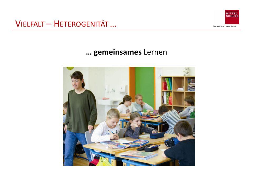 V IELFALT – H ETEROGENITÄT … … gemeinsames Lernen