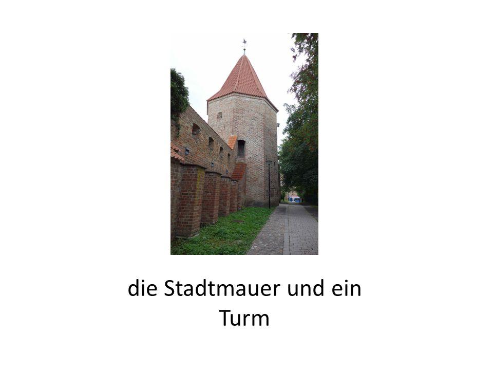 die Stadtmauer und ein Turm