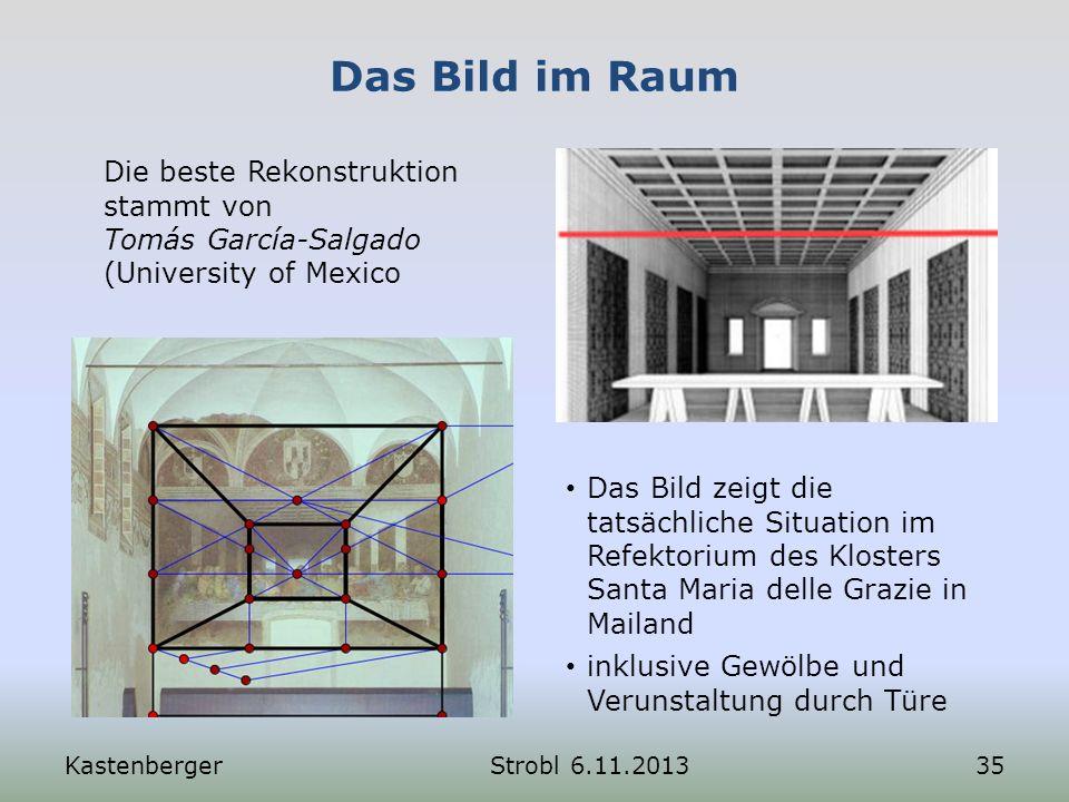 Das Bild im Raum KastenbergerStrobl 6.11.201335 Die beste Rekonstruktion stammt von Tomás García-Salgado (University of Mexico Das Bild zeigt die tats