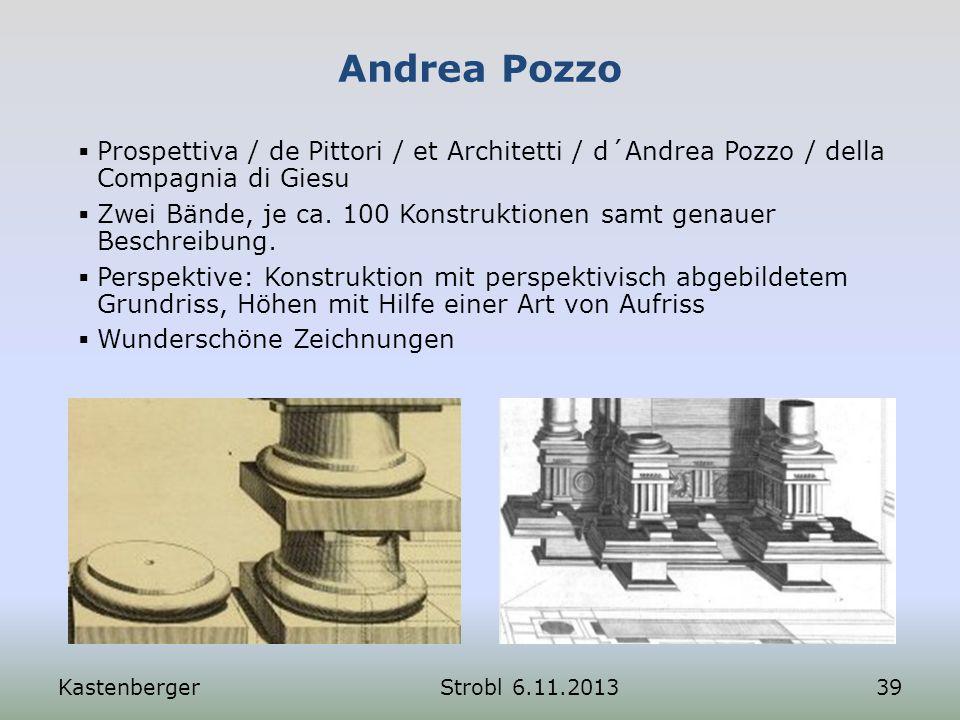 Andrea Pozzo KastenbergerStrobl 6.11.201339 Prospettiva / de Pittori / et Architetti / d´Andrea Pozzo / della Compagnia di Giesu Zwei Bände, je ca. 10