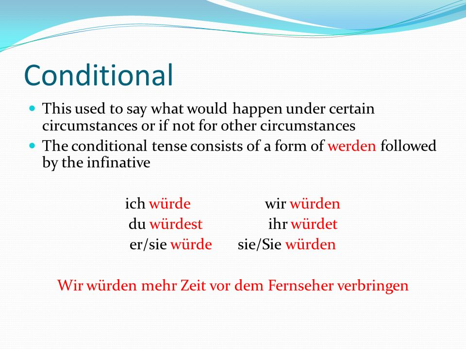 When to use it.The conditional tense is being used increasingly in the place of the subjunctive.