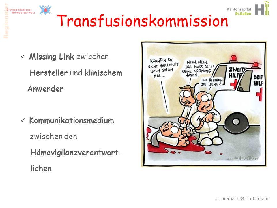 Transfusionskommission Missing Link zwischen Hersteller und klinischem Anwender Kommunikationsmedium zwischen den Hämovigilanzverantwort- lichen 11 J.