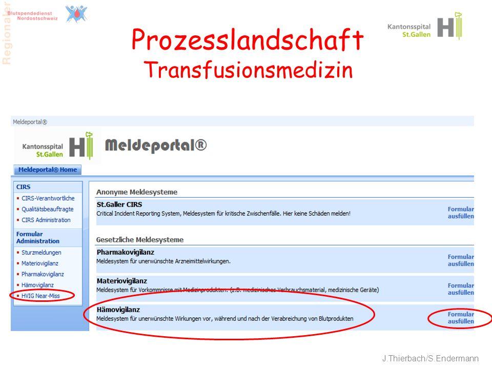 19 Prozesslandschaft Transfusionsmedizin J.Thierbach/S.Endermann