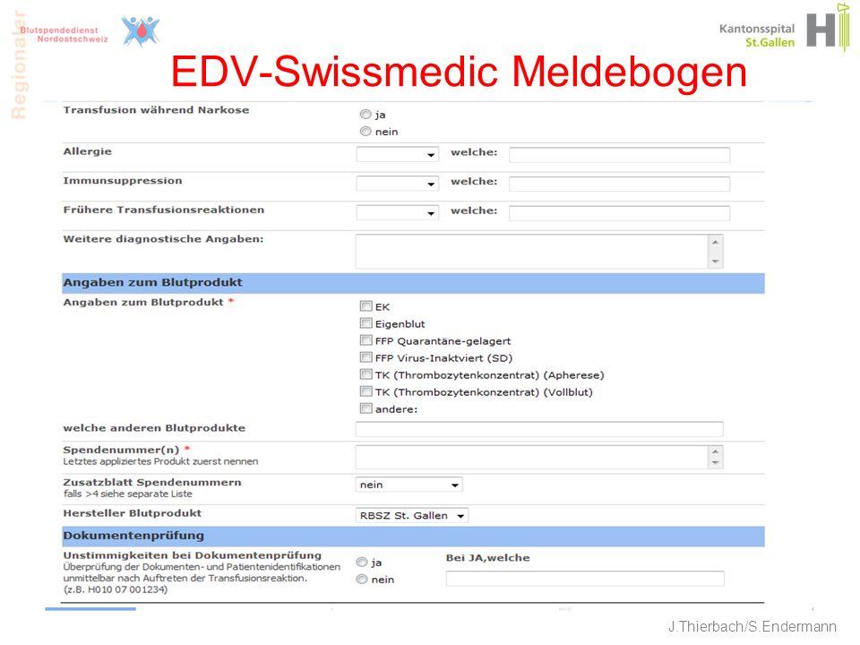 EDV-Swissmedic Meldebogen 21 J.Thierbach/S.Endermann