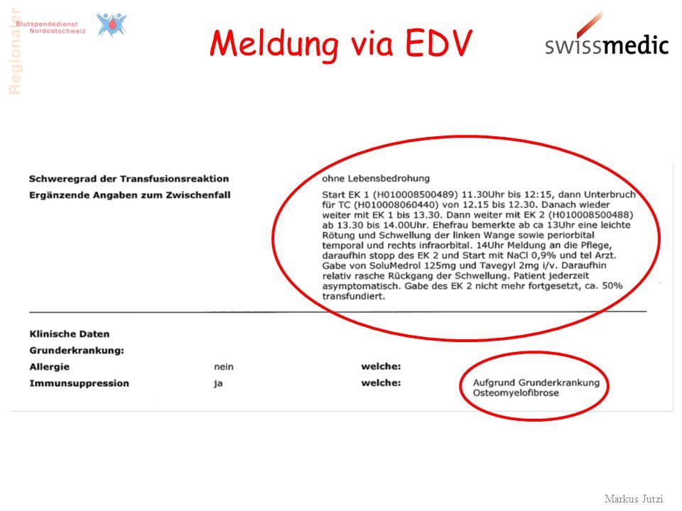 Markus Jutzi 30 Meldung via EDV