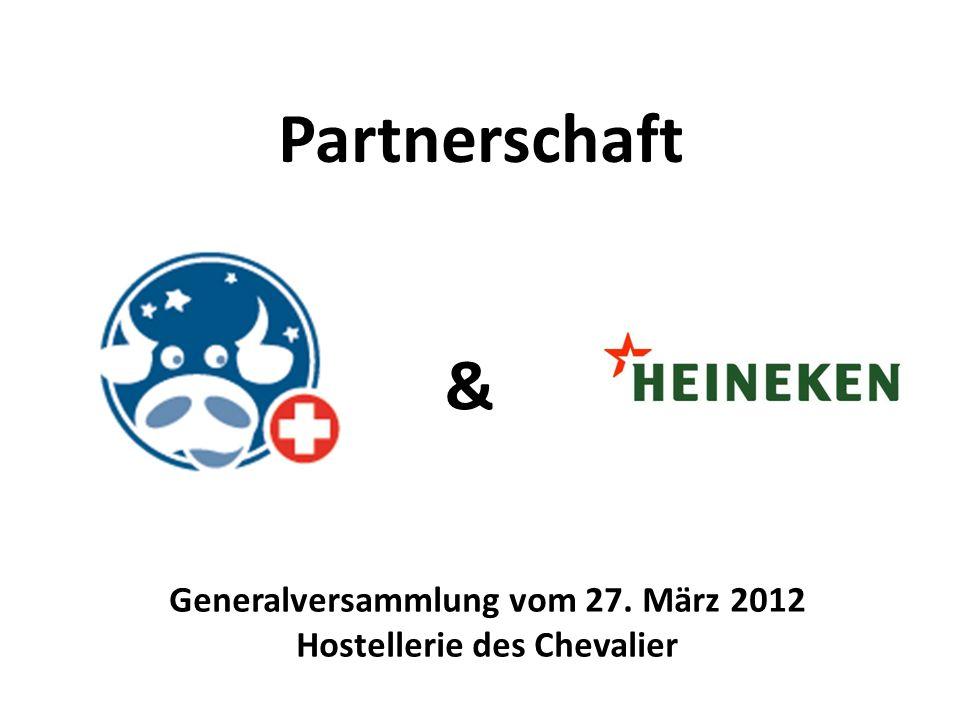 HEINEKEN SWITZERLAND – Ihr Getränkehändler Partnerschaft & Generalversammlung vom 27. März 2012 Hostellerie des Chevalier