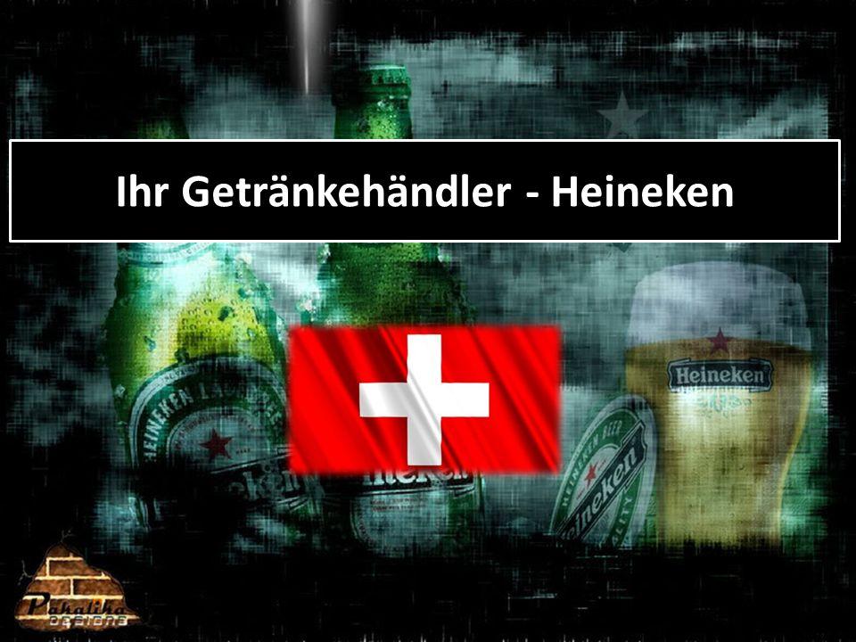 Unser Sortiment 6 eigne, in der Schweiz produzierte Biermarken Heineken, Calanda, Eichhof, Haldengut, Ziegelhof, Ittinger HEINEKEN SWITZERLAND – Ihr Getränkehändler Internationale Spezialitätenbiere Desperados, Miller, Clausthaler, Erdinger, Weissbier, um nur ein paar wenige zu nennen.