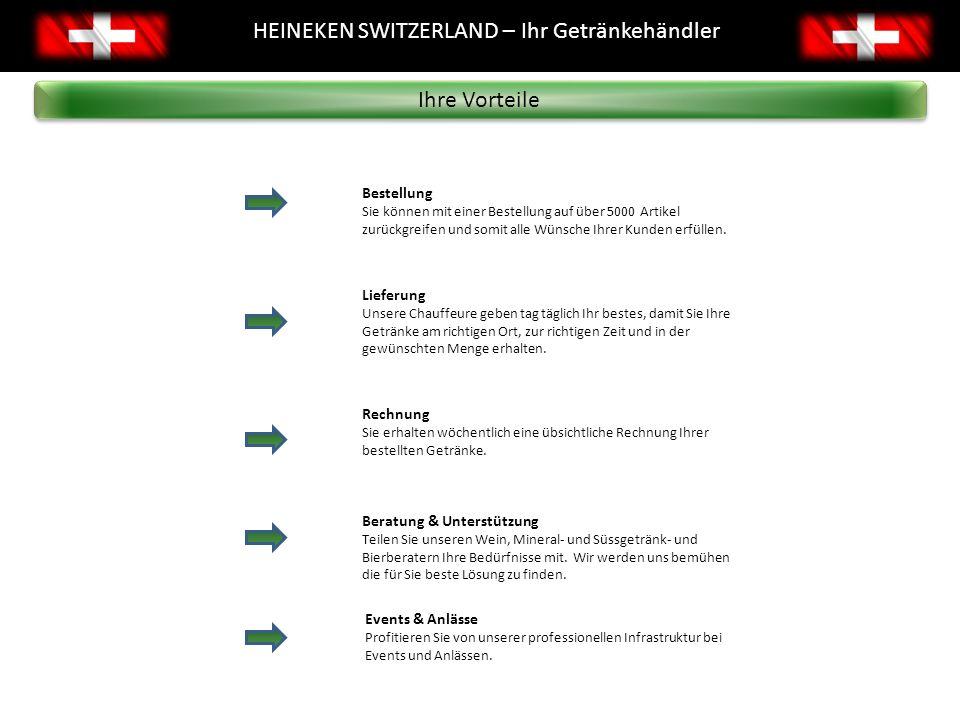 2 Brauereien 22 Logistikstandorte Unsere Standorte HEINEKEN SWITZERLAND - Standorte