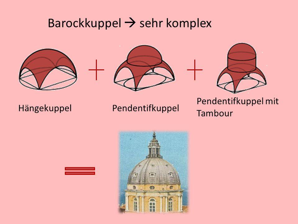 Barockkuppel sehr komplex HängekuppelPendentifkuppel Pendentifkuppel mit Tambour