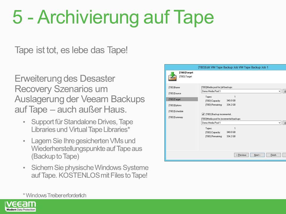 5 - Archivierung auf Tape