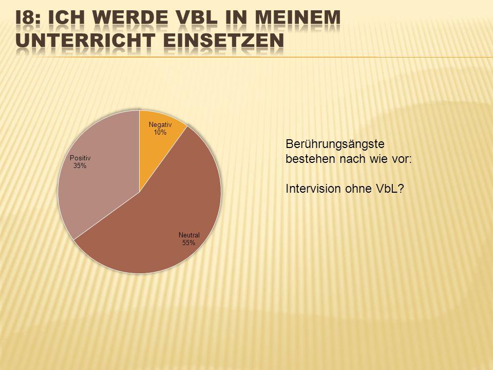 Berührungsängste bestehen nach wie vor: Intervision ohne VbL