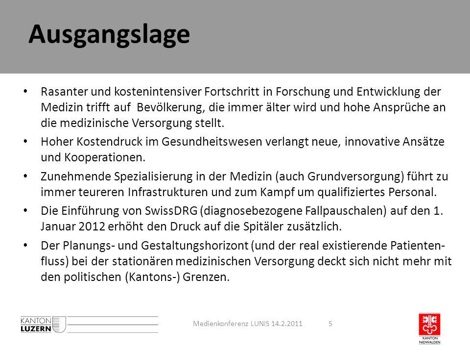 Schlussbemerkungen aus Sicht Nidwalden Medienkonferenz LUNIS xx.2.201116 LUNIS ist ein erster Schritt in die richtige Richtung.