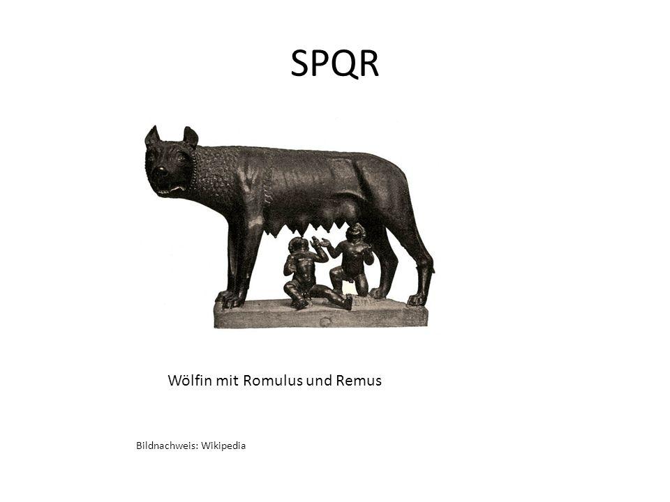 SPQR Wölfin mit Romulus und Remus Bildnachweis: Wikipedia